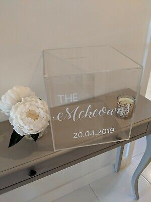 Phantom Acrylic Wedding Card Box / Perspex Wedding Postbox / Personalised...