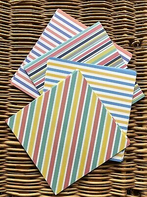 White Lined Pin Stripe Paper A4 90gsm x 25 Sheets for Cardmaking AM550
