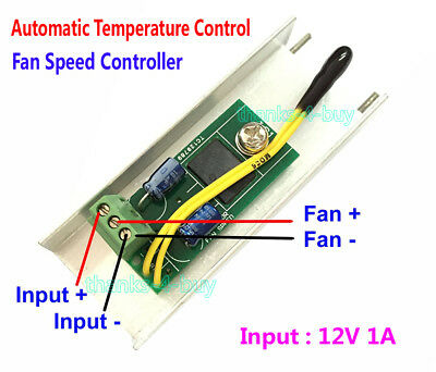 DC 12V 1A Automatic PC CPU Fan Temperature Control Speed Controller Governor