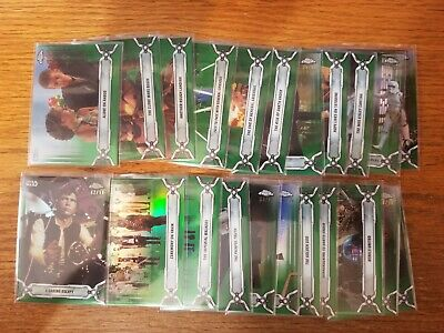 2019 Topps Star Wars Chrome Legacy Green Refractor #ed /50 #1-200 Pick Your Card