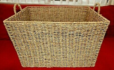 Large Tapered Seagrass Wicker Storage Basket