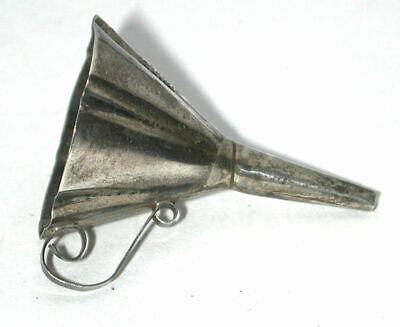 Small handmade Sterling Silver Vintage perfume Funnel Mexico Mexican