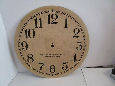 Standard Electric Time Co. Clock Dial  - #D-2