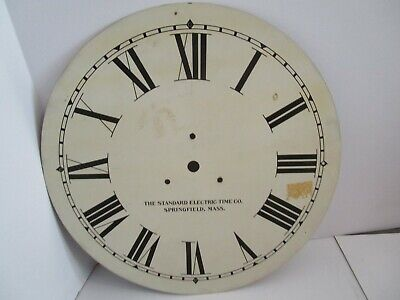 Standard Electric Time Co. Clock Dial  - #D-4