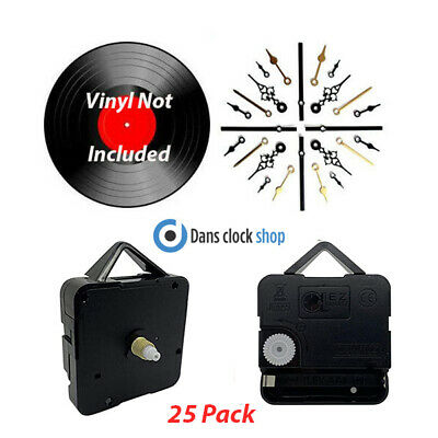25 Pack 7'' & 12'' Vinyl Record Clock Making Kit Convert Your Records To Clocks