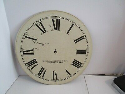 Standard Electric Time Co. Clock Dial  - #D-8