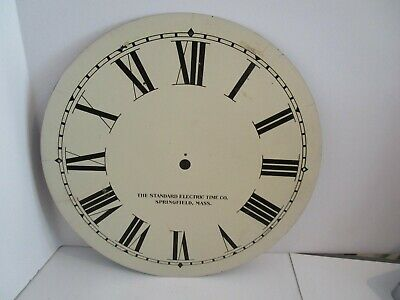 Standard Electric Time Co. Clock Dial  - #D-9