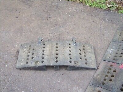 Cable/pipe protection ramps / speed hump set of six