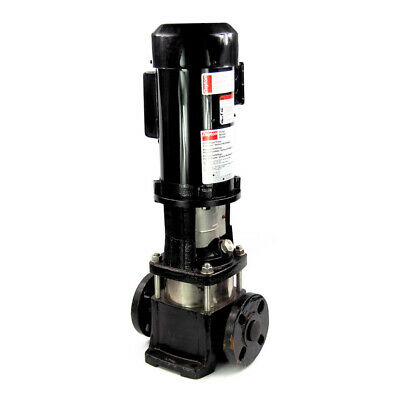 """1 HP Vertical Multi-Stage Booster Pump 5-Stage 115/230V 1-1/4"""" Inlet/Outlet"""