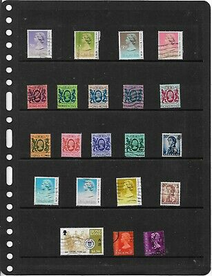 Commonwealth HONG KONG One Stock Sheet Mixed Used Stamps Collection
