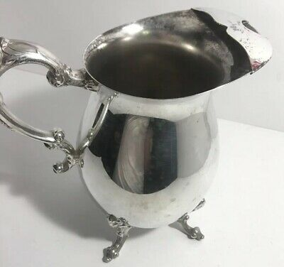 Vintage Sheridan Silver Plated Water Pitcher Large