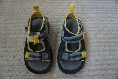 Toddler Boy|  Baby Gap | Size 8 | All Terrain Sandals | Gray And Yellow