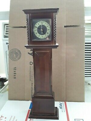 "Vintage Bombay Mini Grandfather Clock 1991 All Wood 13"" Tall Japan Movement"
