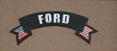 New 1 1/4 X 5 1/8 Inch Ford Rocker Iron On Patch Free Shipping P1