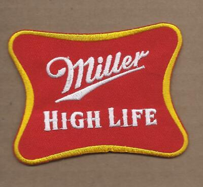 New 2 3/4 X 3 5/8 Inch Miller High Life Beer Iron On Patch Free Shipping P1