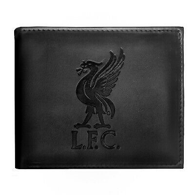 Liverpool FC Official Football Gift Embossed Crest Money Wallet Black