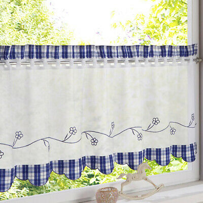 COFFEE POT 3 Pc Embroidered Kitchen Curtain Set Dahdoul Home ...