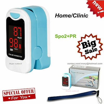 LED Finger Pulse Oximeter Blood Oxygen meter SPO2 Heart Rate Patient Monitor USA