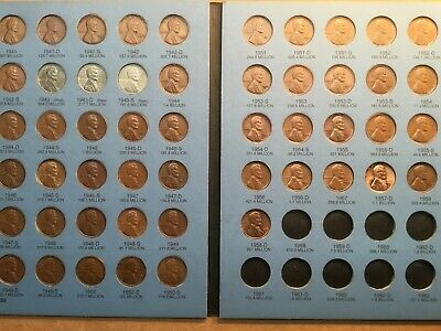 FULL BOOK of LINCOLN WHEAT 1941-1958 MEMORIAL 1959-1974 P,D,S CENT COLLECTION