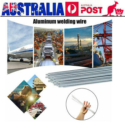 2mm*500mm Low Temperature Aluminum Welding Solder Wire Flux Rods 10/20/50Pc F9F8