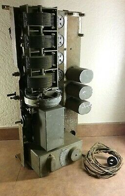 VIntage SilverTone NEUTRODYNE BreadBox Model H Radio Untested 7 tube Chassis