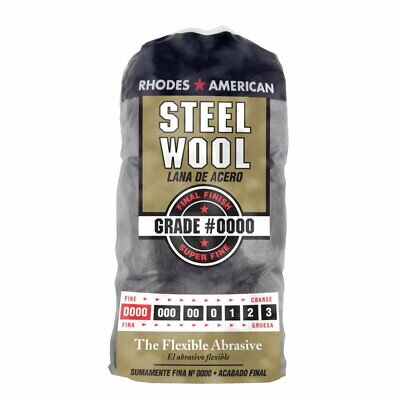 Steel Wool 12 pad, Super Fine Grade #0000 Rhodes American Final Finish