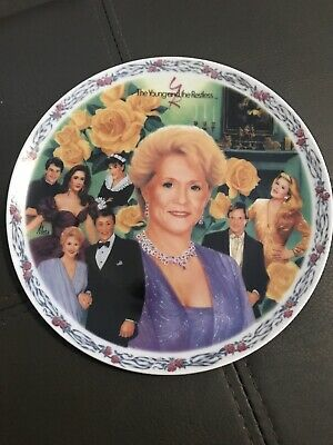 young and the restless collectable plate Katherines Legacy With COA