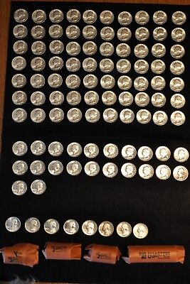 1964 US Silver Quarters - 100 Uncirculated