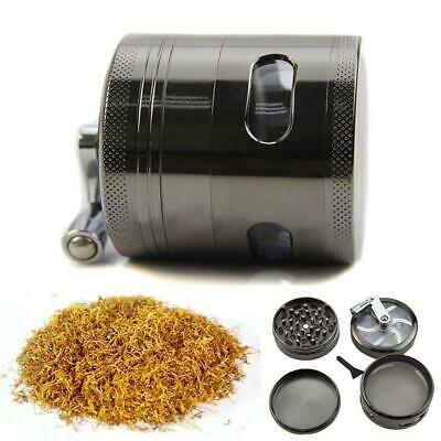 """New Handle Mill Grinder 4 Layer 2.5"""" Herb Tobacco Spice Crusher Metal Storage EH"""