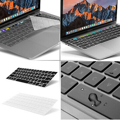 BLK/Clear Keyboard Cover Compatible MacBook Pro Touch Bar 13 15 Inch 2019 ~ 2016