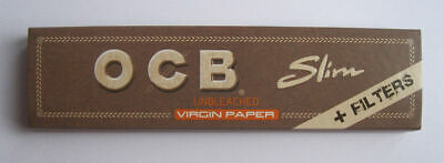 4 Packs OCB Brown Roliing Papers King Size With Filter Tips Full BOX Smoke Joint