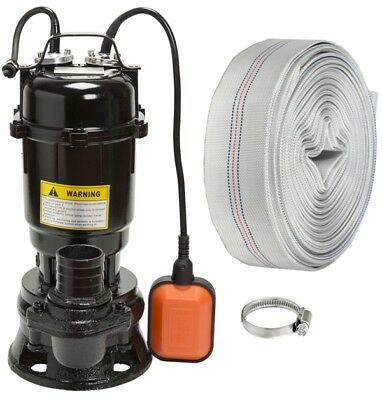 IBO 550W Submersible Sewage Dirty Water Septic Pump Float Switch + 30m fire hose