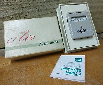 Rare Vintage - AVO Model 3 Light Lux Exposure Meter + Box & Instructions