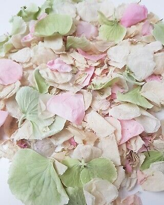 Princess Real Flower confetti mix, Dusty green, Pink Rose and Ivory
