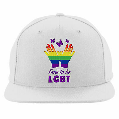 Free To Be Lesbian Gay Embroidered Snapback, Bisexual Transgender LGBT Hat