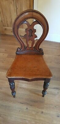 Attractive Antique Ornate Victorian Mahogany Hall Occasional Bedroom Chair