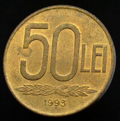 Romania 50 Lei 1993. km110. coin. exact item pictured
