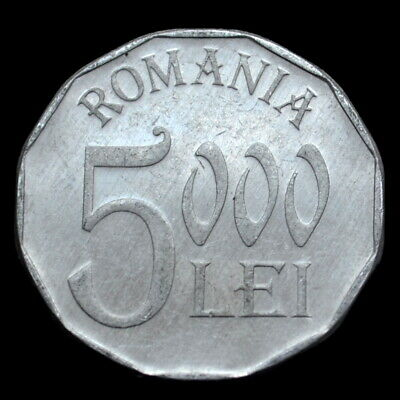Romania 5000 Lei 2002. km158. coin. exact item pictured