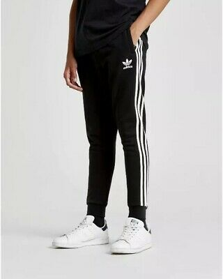 Adidas Originals Track Pants Fleece Kids Boys Girls Soccer Football BNWT Black
