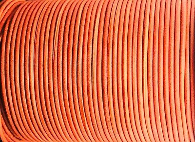 Antique Red 2.5mm Leather Cord Lace 100m Jewellery Making Cord