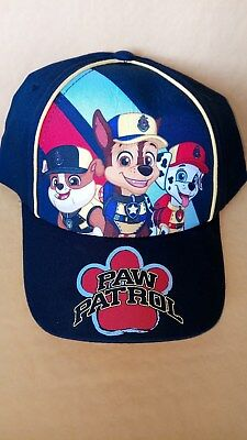 Paw Patrol Base Ball Style hat with Marshal, Chase, Rubble with V/Strip closure