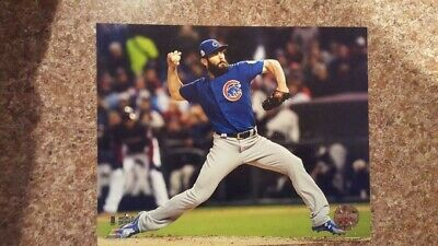 Jake Arrieta Cubs 8x10 - 2016 World Series Photo - Licensed, Unsigned