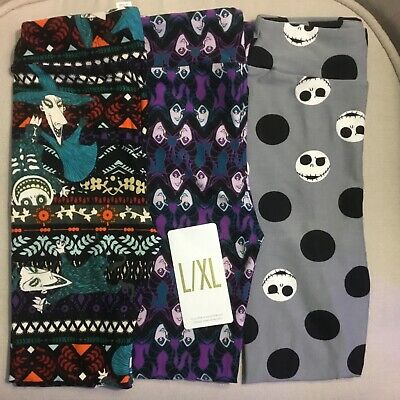 LuLaRoe Disney Nightmare Before Christmas Cruella Kids L/XL Leggings