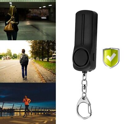 Personal Safety Alarm Anti-Attack Security Self Defense Keychain SOS Panic Loud
