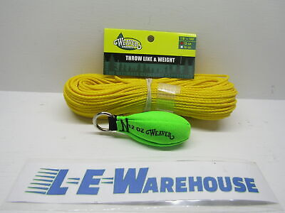 New England Ropes DYNAGLIDE 1.8mm X 150FT Arborist Throw Line 1000lb Neon Orange