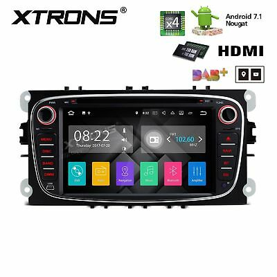 "Autoradio 7 "" Android 7.1 Quad-Core 2gb Ford Focus C-Max S-Max Galaxy Schwarz"