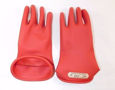 Marigold Red Electrical Gloves CLASS 00 R 10 - Size 10 (1 Pair)