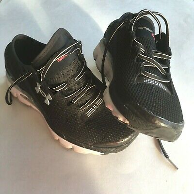 the best attitude 1eff0 605e3 UNDER ARMOUR Speed Form Gemini 2 Black Silver Running Shoes Womens Size 9.5