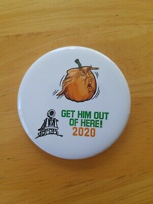 """Trump /""""Trumpelthinskin/""""2 1//4 in Pin-back Button Ships Free"""