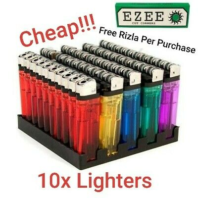 10 X Disposable Lighters Child Safety and Easy To Store Your Lighters